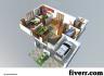 create AMAZING Exterior and 3D floor plan