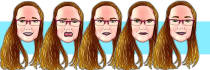 draw you a sticker emoji portrait in my style