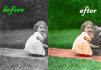 digitally turn your black and white image into color