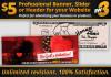 design a PROFESSIONAL Banner, Slider or Header for your Website in 48 hours