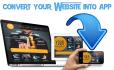 convert website into Mobile App