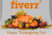 create Thanksgiving greeting animation