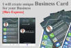 create unique business Card for your Business
