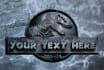 put your text or your name on Jurassic world logo