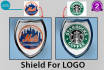 create Cartoon Style Shield for Your Logo, Text or Any Graphic