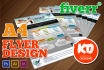 design a A4 or Letter size Flyer or Poster
