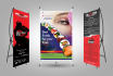 design Rollup, Banners, Standee and XStand Banner