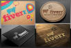 create 15 different photorealistic 3d logo mockups
