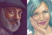 illustrate your portrait with realistic or stylized finish