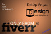 design a killer LOGO for your company or website in 24 hours