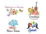 create UNIQE hand drawn water color logo