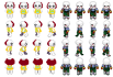 make creepy Sprite sheets for your game