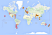 create a travel map with tags on each city you have been