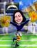 amazing cartoon U like an American football player