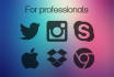 design 5 simple but professional ICONS