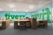 virtually add your logo or text to photo realistic office