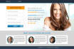 design Custom LANDING Page or Squeeze Page in 10 Hours