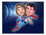 make a Cartoon and caricature like super HERO