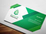 create a beautiful business card with logo