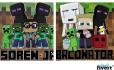 make you a cartoon portrait as a Minecraft character