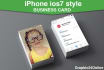 do iPhone business card