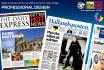 design Professional look Newspaper