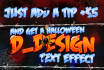 do a halloween logo, poster or menu makeover