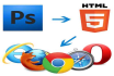 convert psd to html5 css3 with bootstrap
