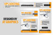 banner design and awesome headers for ads