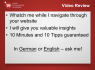 review and improve your website with 10 tips Germany and Switzerland
