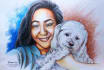 manually Hand Drawing and Painting Your Cute Pet