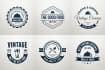 design a Vintage Retro logo or badges