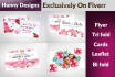 design Wedding invitation Cards Gift Vouchers and much more