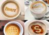 do photorealistic coffee latte art mock ups