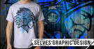 design tshirt with grunge brushes effect