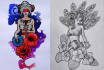 create a tattoo sketch, design