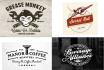 design your logo as a Retro vintage badge