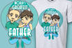 create cute shirt design for Fathers day
