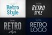 create an amazing 3D retro logo
