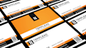 design OUTSTANDING 2side business card and stationery