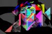 create a unique poly colored portrait