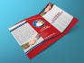 design eye catching trifold brochure