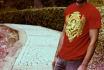 put any design graphics to realistic tshirt mockup