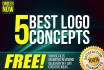 design 5 best logo concepts