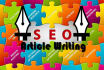 write Original 500 words SEO Article,Blog, Webcontent