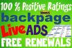 write you 5 amazing, 80 word  backpage