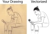 vectorise or redraw logo and picture