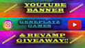 create you a stylish sleek youtube banner and more