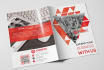 do amazing professional bifold brochure for your company