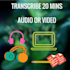 do Quality and Accurate 20mins video and audio Transcription